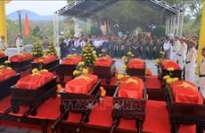 承天顺化省为18具在老挝牺牲的越南烈士遗骸举行追悼会和安葬仪式