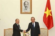 促进越柬睦邻友好、传统友谊、全面合作、长期稳定的关系发展