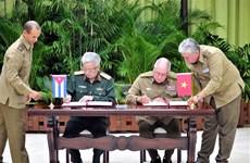 越南国防部副部长阮志咏上将对古巴进行正式访问