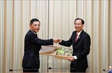 推动胡志明市与中国上海市的合作