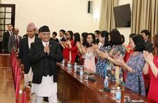 尼泊尔总理探访胡志明国家政治学院