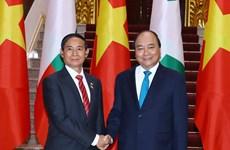 越南政府和国会领导人会见缅甸总统吴温敏