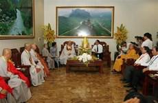 越南政府宗教委员会主任武战胜会见韩国佛教代表团