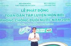 越南政府副总理武德儋号召全民锻炼游泳预防溺水