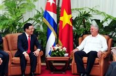 越南政府副总理兼外长范平明对古巴进行正式访问