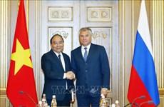 阮春福总理会见俄罗斯国家杜马主席