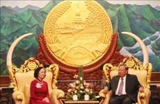 老挝领导人:像保护自己的眼珠一样地保护好越老伟大友好、特殊团结关系