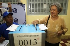 柬埔寨超过99%选民参加第三届首都省市县区理事会选举
