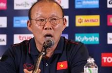 越南男足参加泰国王杯足球赛赛前记者会