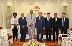 越南公安部长会见安哥拉对外情报局局长