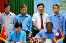 越南承天顺化省同老挝萨拉弯省携手保护劳动者的权益