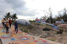 """广南省沿着三青沙滩""""竹篮船之路""""艺术项目正式竣工"""