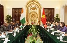 越南与科特迪瓦支持同意加强在多边论坛上的交流与合作