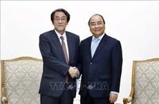 政府总理阮春福会见日本驻越南大使梅田邦夫和永旺集团领导