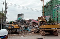 柬埔寨一座七层楼房倒塌事故:至少7人死亡和18人受伤