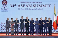 越南政府总理阮春福出席第34届东盟峰会开幕式