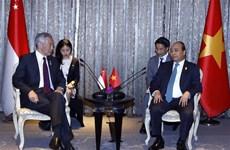 越南政府总理阮春福会见泰国、印尼和新加坡领导人
