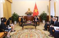 越南政府副总理兼外长范平明会见泰国新任驻越大使