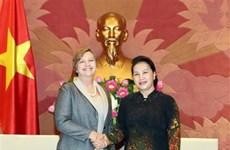 越南国会主席阮氏金银会见联合国儿童基金会驻越首席代表