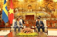 瑞典驻越南大使对河内所取得的成就印象深刻