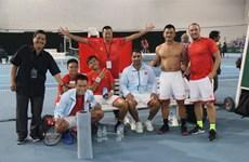 越南队夺得戴维斯杯男子网球团体赛亚太区第三组冠军