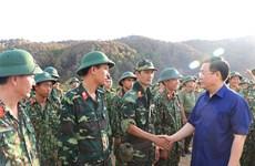 王廷惠实地检查亲自指导河静省森林火灾扑救工作