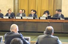 越南促进联合国裁军谈判会议框架内的讨论工作