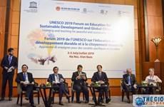 联合国教科文组织可持续发展教育和全球公民教育论坛在河内开幕