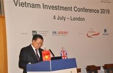 在英国举行的越南金融投资促进会获外国投资商的高度关注