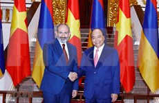 亚美尼亚总理尼科尔·帕希尼扬圆满结束对越南的正式访问