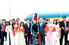 越南国会主席阮氏金银抵达江苏 开始对中国进行正式访问
