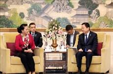 越南国会主席阮氏金银会见中国苏州市委书记周乃翔