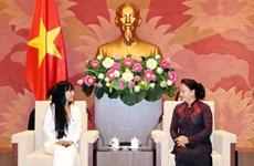 越南国会主席阮氏金银会见法越议员友好小组