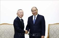 越南政府总理阮春福会见日本迅销集团总裁柳井正
