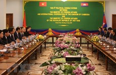 越南与柬埔寨两国外交部第六次政治磋商在金边举行