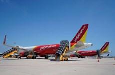 越捷航空公司因受台风丹娜丝影响调整四个航班执行计划