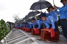 在柬牺牲的越南志愿军和专家遗骸追悼会及安葬仪式在同塔省举行