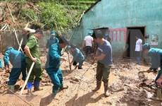 河江省黄树肥和箐门两县连日暴雨致山体滑坡受灾严重