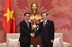 国会副主席冯国显会见老挝国会代表团