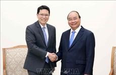 越南政府总理阮春福会见泰国央行行长