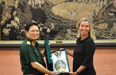 越南国防部长吴春历会见欧洲委员会副主席莫盖里尼