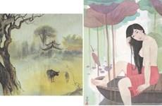 越南北-南著名画家相遇    让自然与艺术有机融合