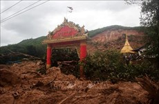 缅甸发生山体滑坡事件多人被埋