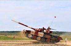 越南坦克队在2019年国际军事比赛中表现出色
