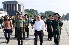 越南政府总理阮春福视察胡志明主席陵修缮工程