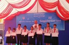 旅居柬埔寨越南侨胞子女的新进小学校举行2018-2019学年结业典礼