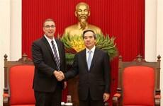 越共中央经济部部长阮文平会见国际货币基金组织新任驻越办事处首席代表