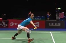 越南羽毛球运动员武氏庄在世界羽毛球锦标赛获大胜