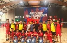 越南毽球队在第十届世界毽球锦标赛上获得多枚金牌