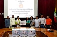  缅甸越南人为缅甸孟邦灾民提供援助